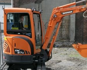 mini digger hire in chester